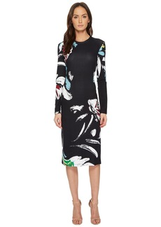 Prabal Gurung Printed Viscose Long Sleeve Dress