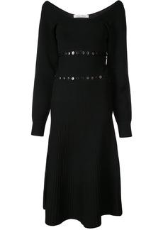 Prabal Gurung scoop neck convertible knitted dress - Black