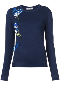 Prabal Gurung sequin embroidered jumper - Blue