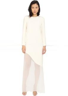 Prabal Gurung Sheer Asymmetrical Dress
