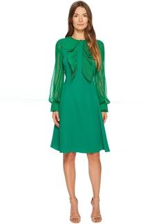 Prabal Gurung Silk Cady Long Sleeve Dress