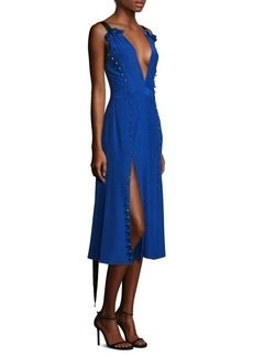 Prabal Gurung Silk Deep V-Neck Dress
