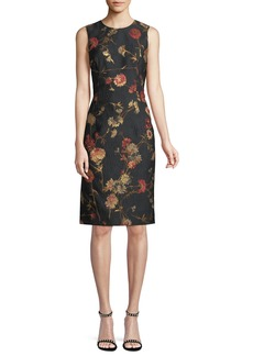 Prabal Gurung Sleeveless Floral Jacquard Sheath Dress