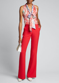 Prabal Gurung Sleeveless Tie-Neck Shirt