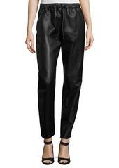 Prabal Gurung Studded Leather Track Pants