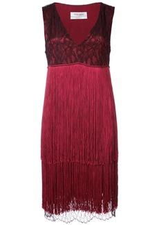 Prabal Gurung V-neck fringe dress - Red