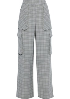 Prabal Gurung Woman Checked Wool Wide-leg Pants Light Gray