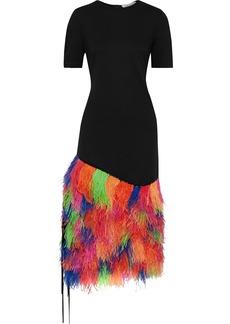 Prabal Gurung Woman Embellished Ponte Midi Dress Black