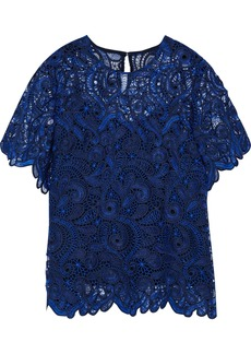 Prabal Gurung Woman Guipure Lace Top Blue