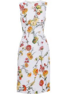 Prabal Gurung Woman Matelassé Floral-jacquard Dress White