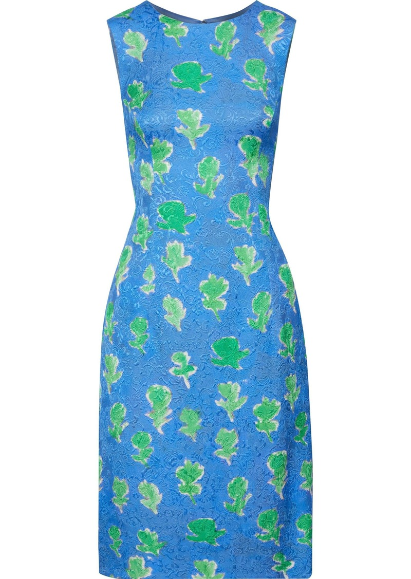 Prabal Gurung Woman Printed Jacquard Dress Azure