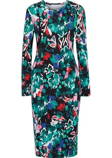 Prabal Gurung Woman Printed Stretch-jersey Dress Emerald