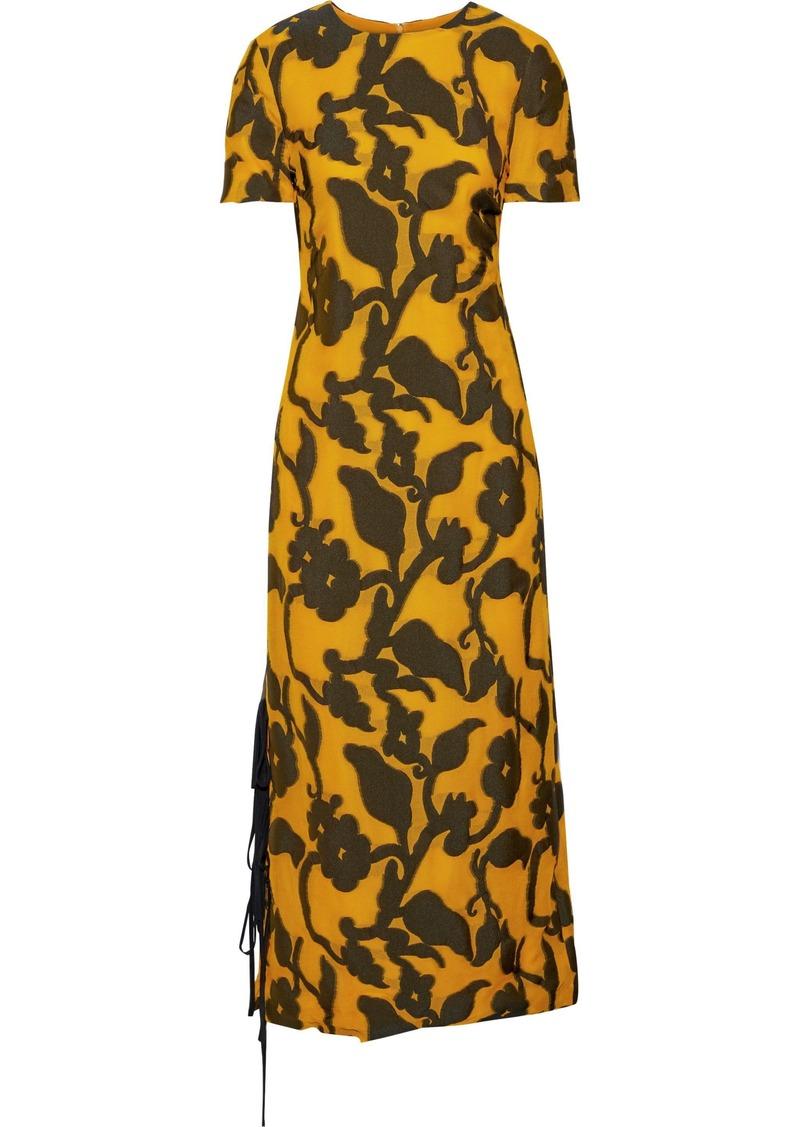 Prabal Gurung Woman Printed Woven Midi Dress Saffron
