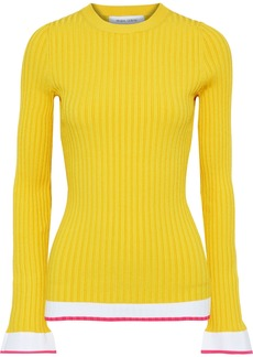 Prabal Gurung Woman Ribbed-knit Top Yellow
