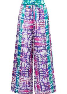 Prabal Gurung Woman Tie-dyed Silk-faille Wide-leg Pants Multicolor