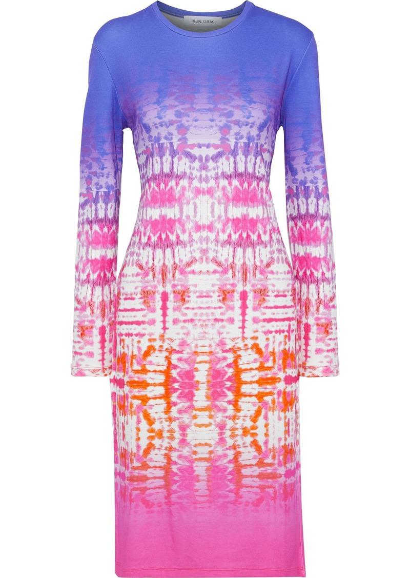 Prabal Gurung Woman Tie-dyed Stretch-jersey Dress Violet