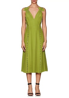 Prabal Gurung Women's Button-Detail Silk Dress