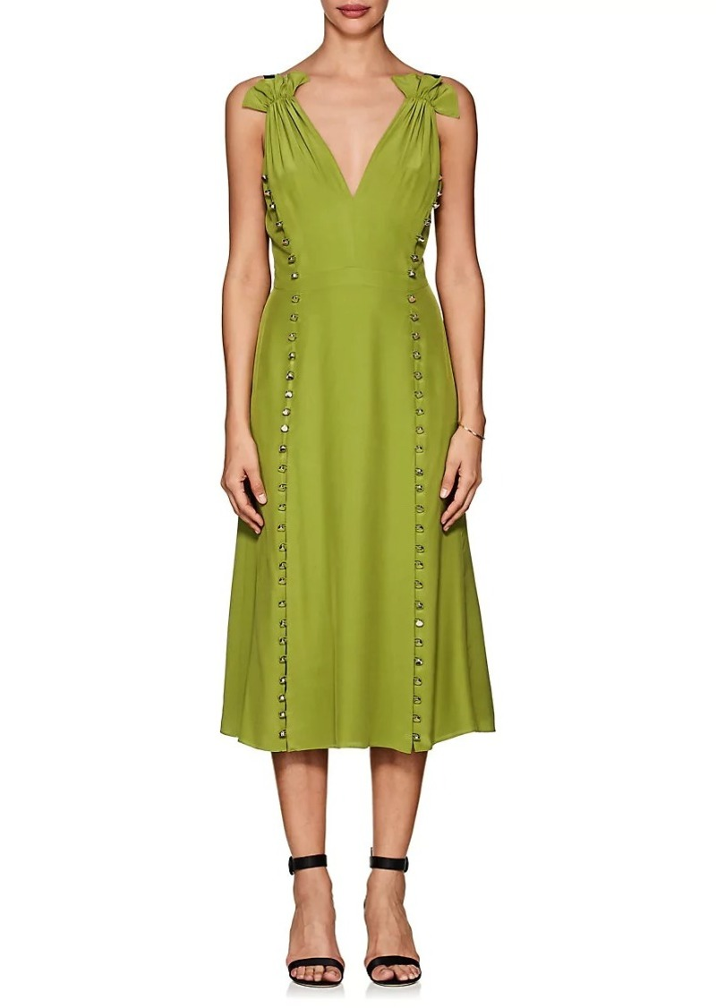Womens Silk-Blend Lamé Cocktail Dress Prabal Gurung Free Shipping Low Price QddhSFkj