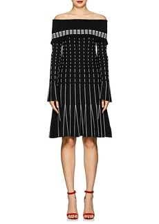 Prabal Gurung Women's Compact Knit Off-The-Shoulder Dress