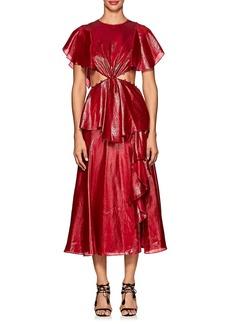 Prabal Gurung Women's Cutout Lamé Asymmetric Dress
