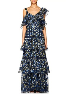 Prabal Gurung Women's Embroidered Silk Organza Gown