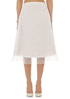 Prabal Gurung Women's Fil Coupé Midi-Skirt