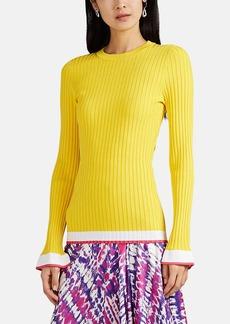 Prabal Gurung Women's Flared-Cuff Rib-Knit Sweater
