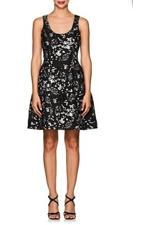 Prabal Gurung Women's Floral Silk-Blend Cloqué Hourglass Dress