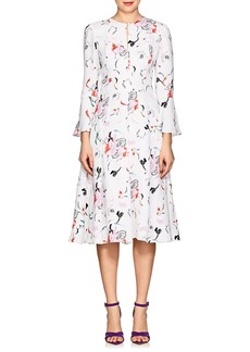 Prabal Gurung Women's Floral Silk Crepe Fit & Flare Dress