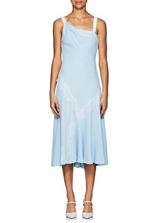 Prabal Gurung Women's Lace-Trimmed Crepe Asymmetric Dress