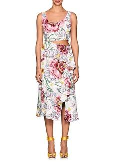 Prabal Gurung Women's Lawrence Floral Silk Cutaway Dress