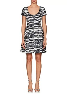 Prabal Gurung Women's Metallic-Striped Cotton-Blend Flared Dress