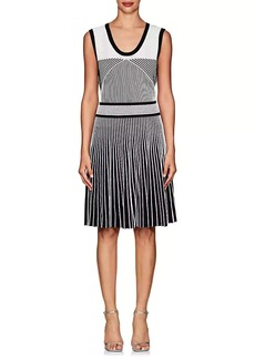 Prabal Gurung Women's Mixed-Knit Fit & Flare Dress