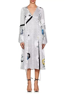 Prabal Gurung Women's Mixed-Print Silk Charmeuse Dress