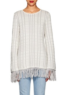 Prabal Gurung Women's Plaid Jacquard-Knit Top