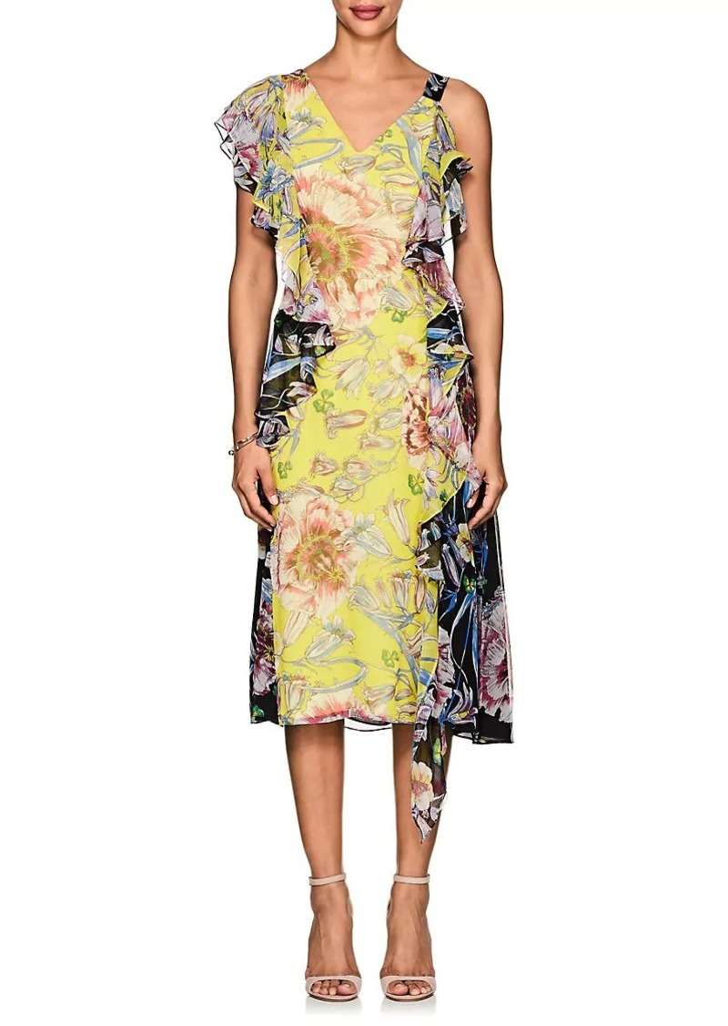 Visa Payment For Sale With Mastercard Cheap Price Womens Floral Jacquard Matelassé Tiered Dress Prabal Gurung Cheap Sale Official Site Free Shipping Pictures hSk9hSZA9