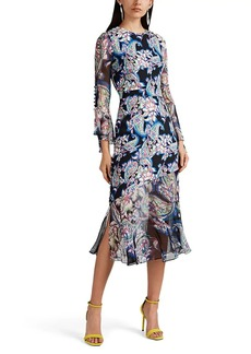 Prabal Gurung Women's Rania Paisley Silk Crepe Dress