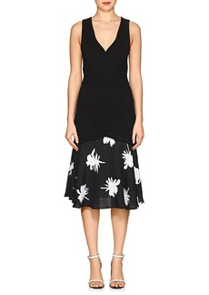 Prabal Gurung Women's Rib-Knit Drop-Waist Dress