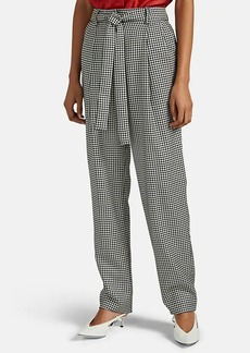 Prabal Gurung Women's Simone Houndstooth Belted Trousers