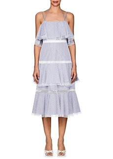 Prabal Gurung Women's Striped Cotton Tiered Dress