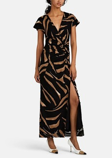 Prabal Gurung Women's Tiger-Striped Silk Crepe Gown