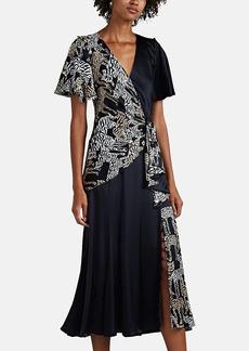 Prabal Gurung Women's Wildcat-Print Silk Midi-Dress