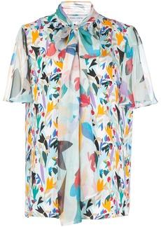Prabal Gurung pussy bow silk blouse