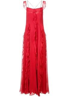 Prabal Gurung ruffle halter gown