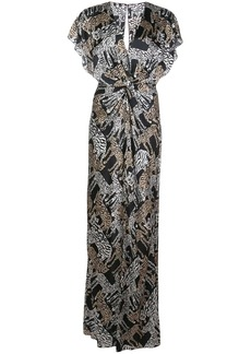 Prabal Gurung safari twist front gown