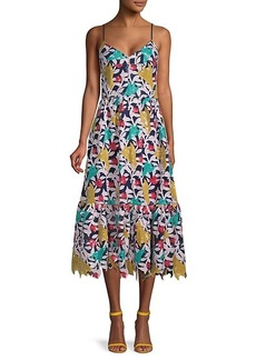 Prabal Gurung Sequin Lace Sleeveless Fit & Flare Dress