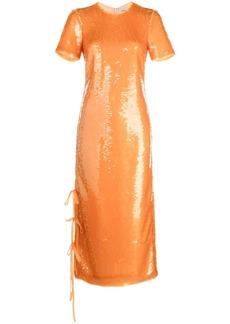 Prabal Gurung sequined tie-fastening dress