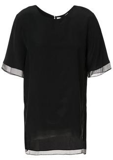 Prabal Gurung sheer trim blouse