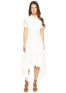 Prabal Gurung Short Sleeve Handkerchief Hem Dress