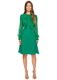Prabal Gurung Silk Cady Long Sleeve Dress